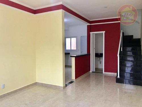 Sobrado Com 2 Dormitórios À Venda, 109 M² Por R$ 340.000 - Aviação - Praia Grande/sp - So0619