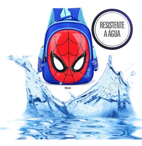 Mochila Infantil Homem Aranha 3d Escolar Impermeavel Bolsa