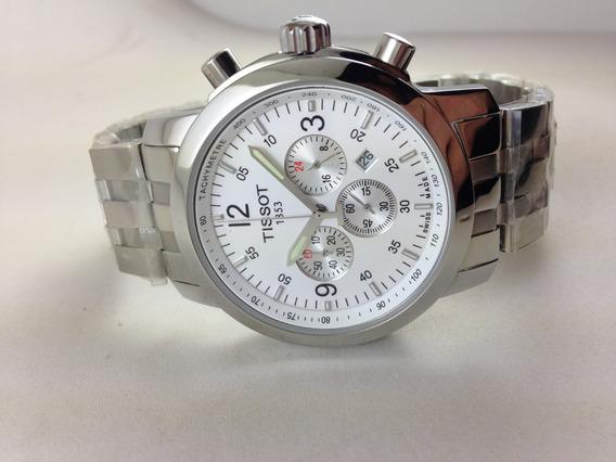 Relógio Tissot Prc 200 Cronógrafo Em Aço Promoção