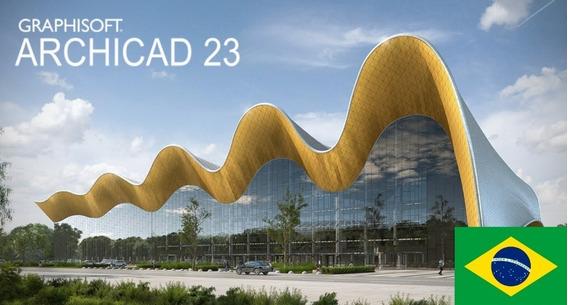 Archicad 23 + Mep + Goodies + 10 Gb Blocos + Template