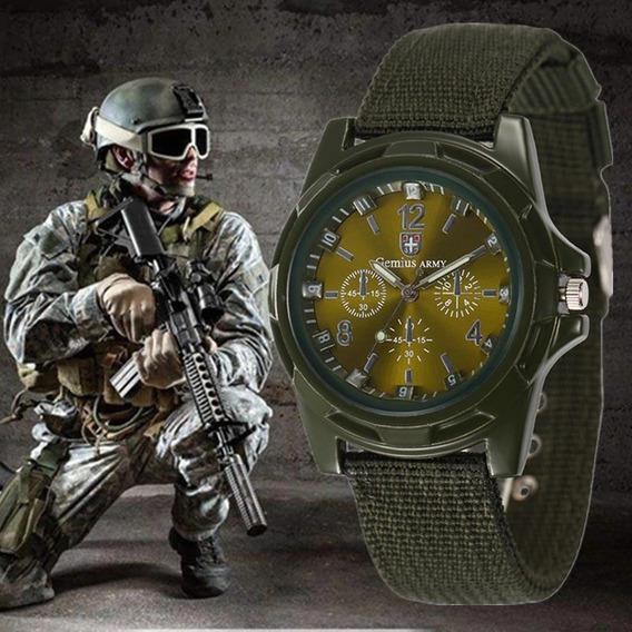 Relógio Gemius Army Original Pulseira Verde Fundo Verde