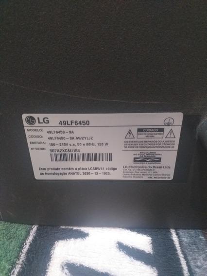 Smart 3d Tv Lg Modelo 49lf6450 Tela Quebrada