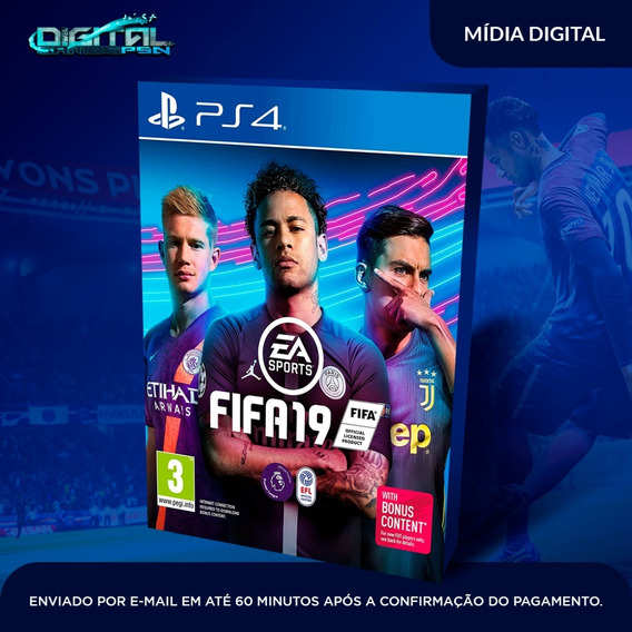 Fifa 2019 19 Ps4 Psn 1 Fifa 2019 Primária Playstation 4
