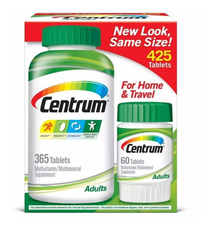 Centrum Adulto Multivitamínico 425 Tablets - 100% Original