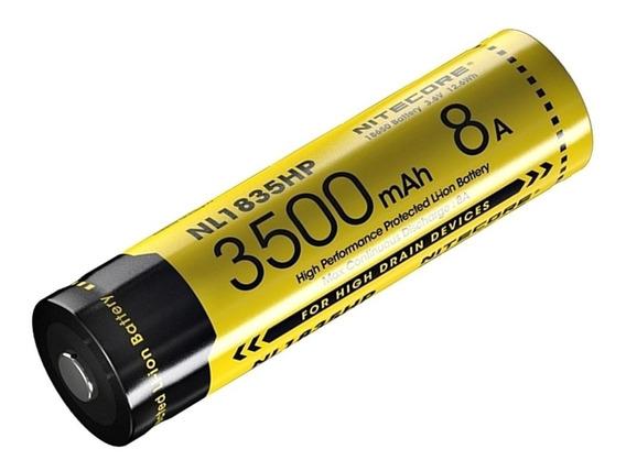 Bateria Nitecore 18650 3500mah Hp 8a 3,6v Original + Case
