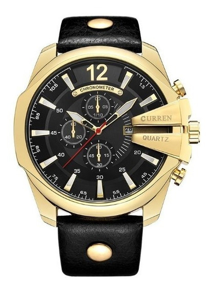 Relógio Masculino Couro Curren Modelo 8176