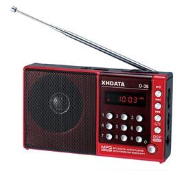 Rádio Receptor Xhdata D-38 Am/fm/sw/mp3 Player Com Dsp