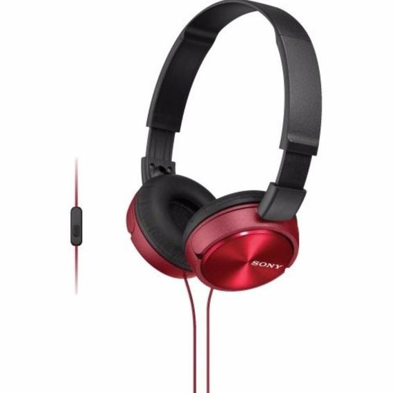 Fone De Ouvido Com Microfone Mdr-zx310ap Sony - Vermelho