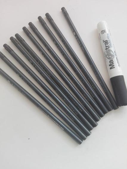 Lapiz Ecologico C/10 Pz Totalmente Negro + Magistral Grip