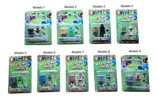 Muñecos De Minecraft X 1 + Accesorios En Blister - La Lucila