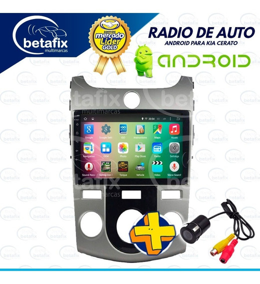 Radio Android Kia Cerato 9p 2008/19 4gps 2usb Bt Betafix Ec