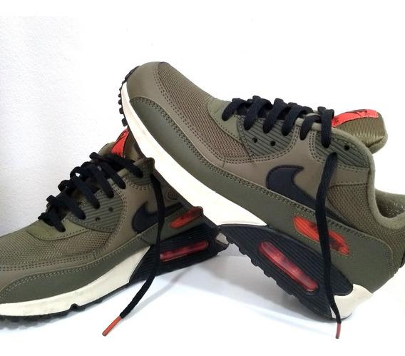 Nike Air Max 90 Essential Verde Com Laranja Original!!!!