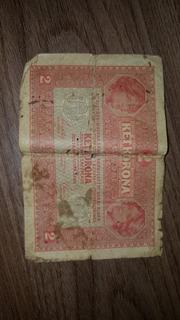 Billete Europeo Año 1.912