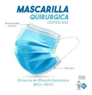 Mascarillas Quirurgicas 100% Certificadas