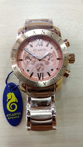 Relógio Original Atlantis  Dourado Rose Frete Grátis.