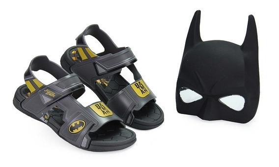 Sandália Infantil Batman Liga Da Justiça Com Máscara