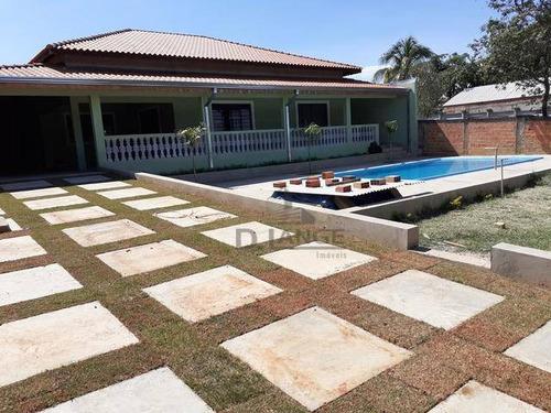 Imagem 1 de 20 de Chácara Com 2 Dormitórios À Venda, 1000 M² Por R$ 735.000,00 - Chácaras Cruzeiro Do Sul - Campinas/sp - Ch0429