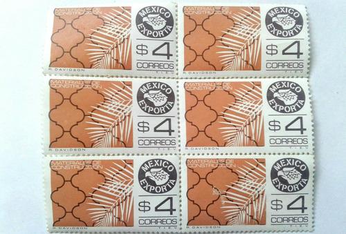 Imagen 1 de 3 de Timbres Postales México Exporta Materiales De Construcción