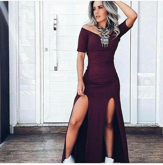 Vestido Feminino Longo Verão 2018 Roupas Femininas
