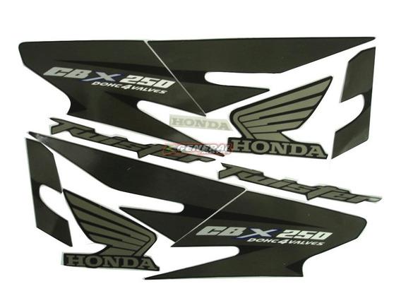 Kit Adesivo Jogo Faixas Moto Honda Twister 2008 Preta