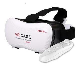 Lente Realidad Virtual 3d Vr Case Motorola + Control Bluetoo