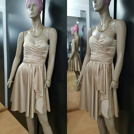 Vestido Corto De Raso...