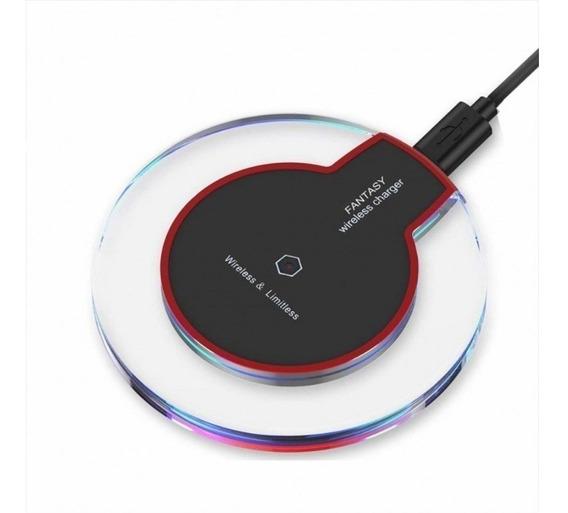 Carregador Sem Fio Charger Wirelless +receptor Qi Ios iPhone