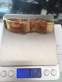 Pulseira Em Ouro 18k 750 19 Cm 2 Cm De Largura Masculino !!!