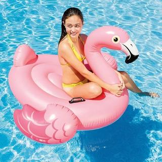 Boia Flamingo Inflável Gigante Intex + Porta Copos Inflável