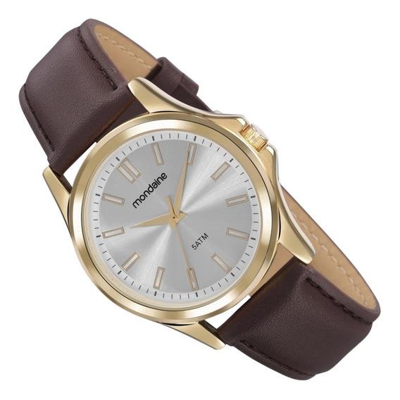 Relógio Mondaine Análogo Social Pulseira Couro 83472gpmvdh2