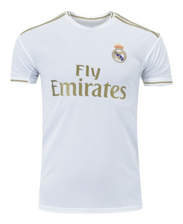 Nova Camiseta Real Madrid Branca Com Dourado Promoção