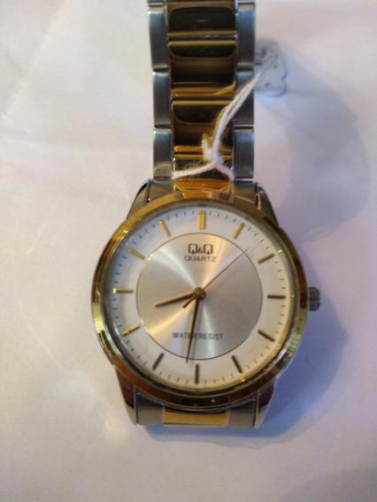Relógio Q&q Aço Quartz