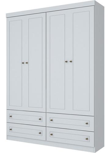 Guarda-roupa Henn Americano - 04 Portas - Branco - (220 X 15