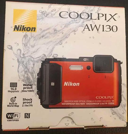 Camera Nikon Aw130 - Gps, Wi-fi - Laranja