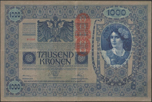 Austria 1000 Kronen Nd1919 P59