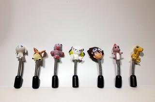 Colección Completa Porta Lapiz Resorte Digimon Pepsico Retro