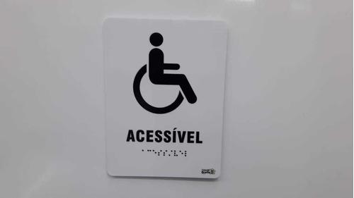 Imagem 1 de 1 de Placa Sanitário Acessível Cadeirante Em Braille Relevo