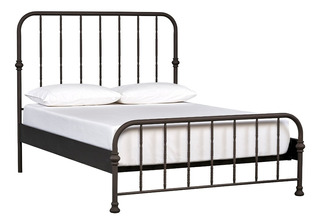 Stone & Beam Duwamish Classic Metal King Bed, 80.5 W, Dark