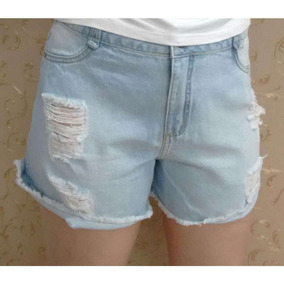 Shorts Essential Jeans Maria Valentina 202418 - Azul