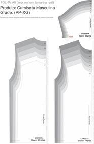 Molde Modelagem Camiseta Masculina Gola Redonda Corel X8
