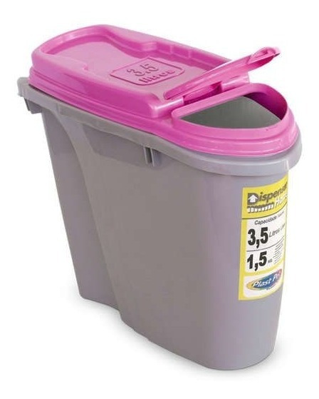 Porta Ração Dispenser Home Plast Pet 3,5l Rosa