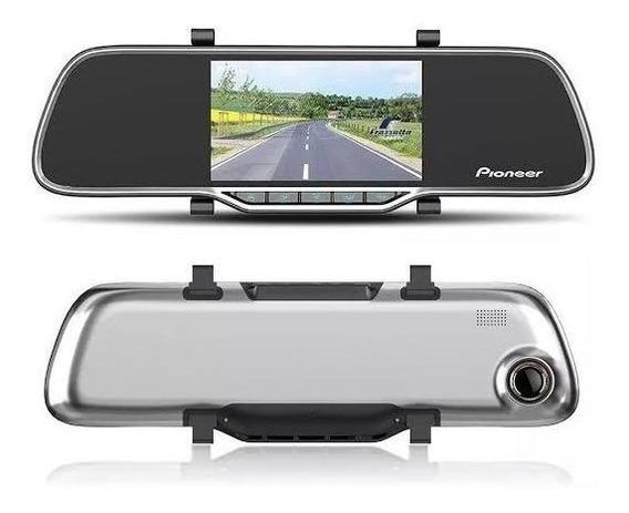 Retrovisor Com Câmera Pioneer Filmadora Dashcam + Câmera Ré