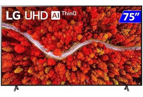 Imagem 1 de 5 de Smart Tv 4k LG Led Uhd 75  Google Alexa E Wifi - 75up8050psb