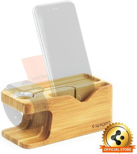 Apple Watch Y Apple iPhone Spigen S370 Soporte De Madera