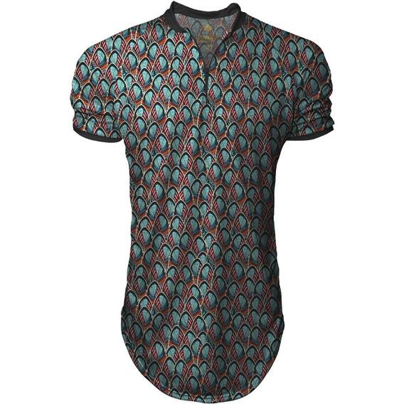 Camiseta Longline Masculina Gola Polo Esporte Top Swag