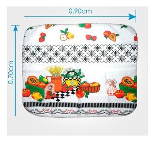 12 Toalha De Chá De Mesa Campestre Textil 90x70