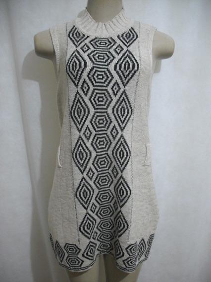 Vestido Bege Lã Thamidi Tam P Usado Bom Estado