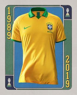 Camisa Seleção Brasileira Brasil Copa América 2019 Amarela