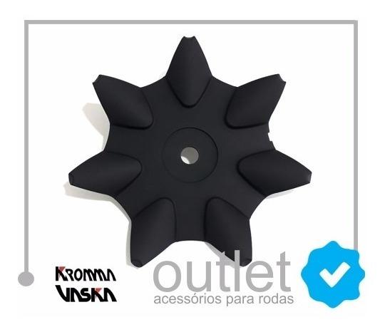 1 Calota Roda Kromma Kr1590 Preto Fosco + 4 Emblema Gm Prat