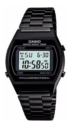 Relógio Casio Vintage B640wb-1adf Preto Original